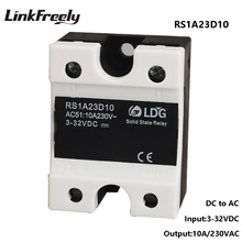 цена RS1A23D10 Smart Mini Single 1 Phase Solid State Relay 10A 220V,Output 24-280VAC Input 5V 12V 24V DC AC SSR Relay  Switch Board онлайн в 2017 году