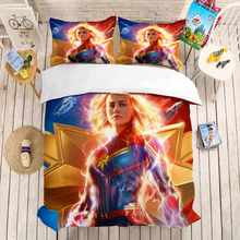 Marvel Captain 3D bedding set Children room decor Duvet Covers Pillowcases Super hero Marve comforter