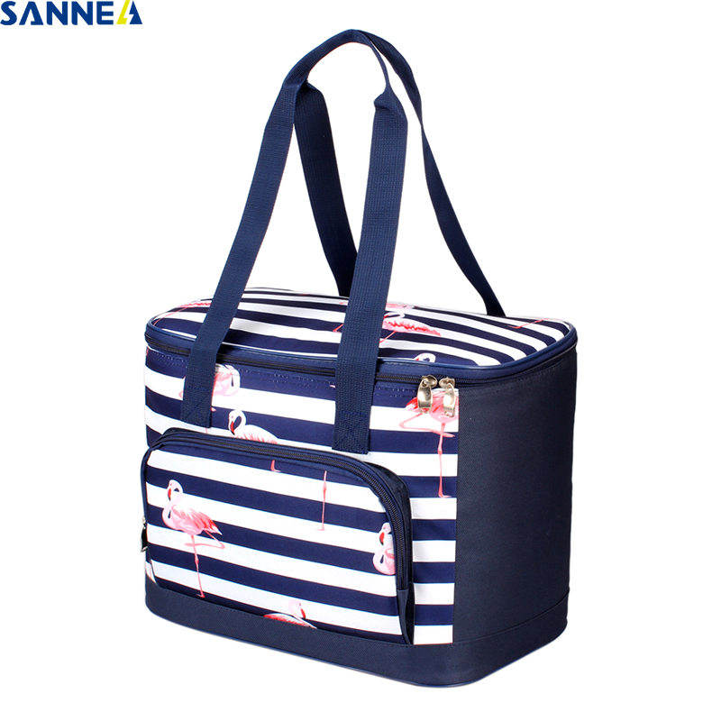 SANNE 2018 New Design Flamingos Thermo Lunch Bags Picnic Bag Women Handbag Cooler Insulated Lunch Box Thermal&Lunch Box for Kids