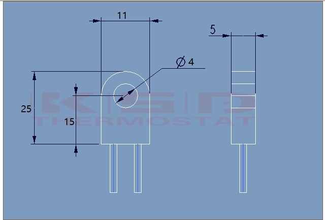 5pcs RH/Tf 95 115 125 130 135 150 180 230Degrees Celsius 15A 250V Temperature fuse Thermal links Over temperature protector