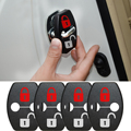 Car Accessories DIY Lock Sticker  Car Door Lock Cover Fit For Hyundai I40 IX20 Veloster Rohens Veracruz  4pcs Per Set