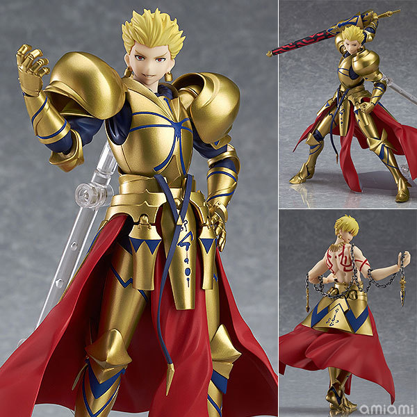 Anime Fate/stay night Fate Grand Order Archer Gilgamesh Figma 300 PVC Action Figure Collection Model Kids Toys Doll 15cm 2018 1