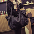 2017 Bolsas de Gran Capacidad de Cuero de piel de Oveja Genuino de Las Mujeres Bolsos de Moda Bolso de Las Señoras Bolsas de Mensajero Mujer Sacs un principal
