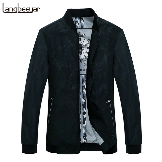 2019 New Fashion Windbreaker Coats And Jackets Mens Korean Mandarin Collar Street Style Trend Overcoat Casual Coat Mens Clothes