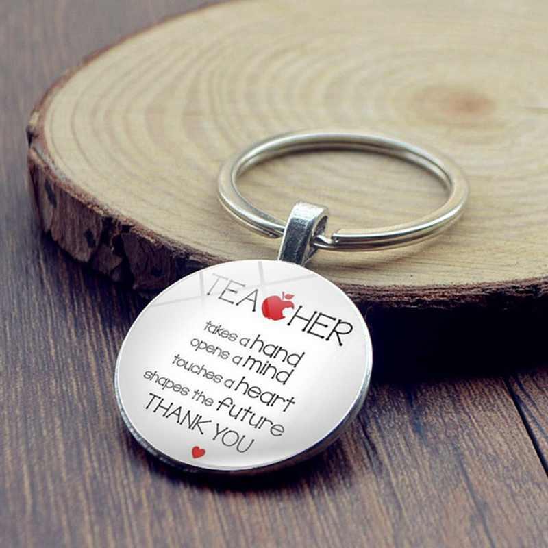 Новые подарки для учителей великий учитель брелок обучения представляет собой брелок с кольцом-держателем Для мужчин Для женщин ювелирные изделия учителя день Святого Валентина