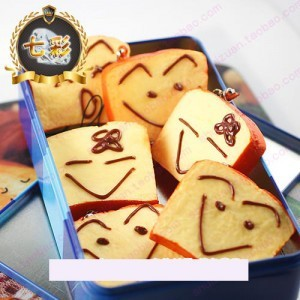 20pieces/lot Free Shipping,Jumbo Cute Face Bread Key Rings Squishy Mobile Phone Strap (Random mixed! ) Wholesale Price #0002
