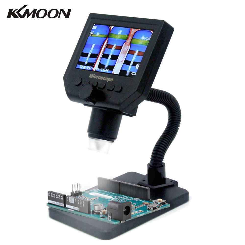 G600 Electronic Digital LCD Microscope Portable solder soldering microscope with 8 LEDs Adjustable Built-in Lithium Battery