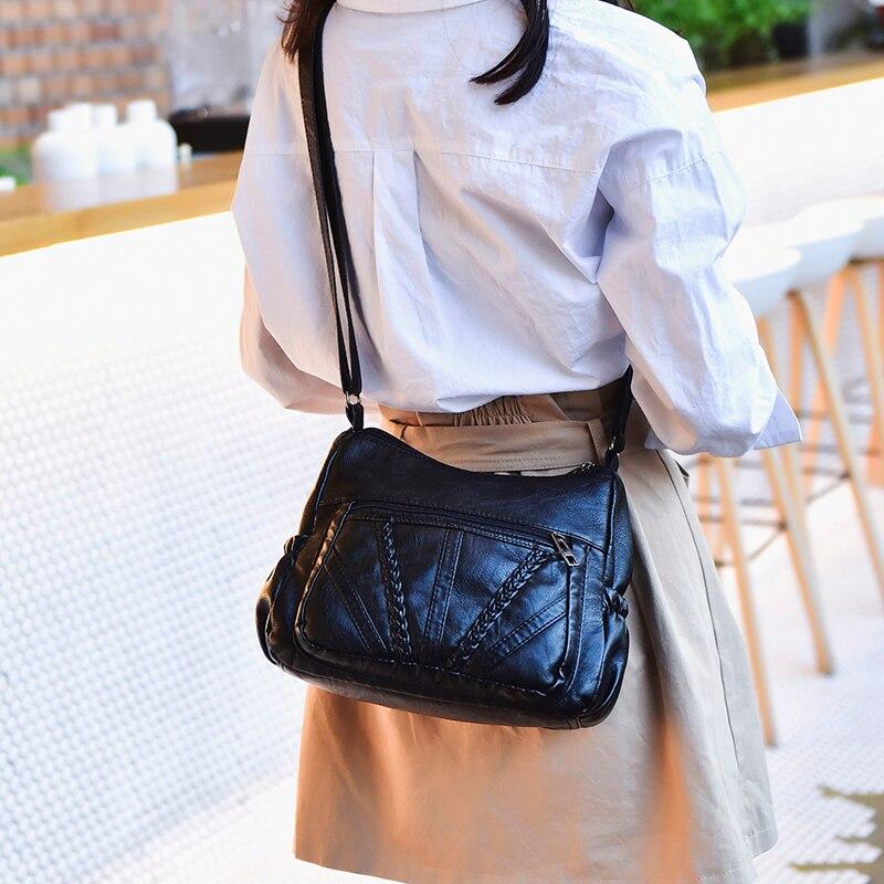 Bags Handbag Women Leather Shoulder Messenger Bag Women Large Capacity Crossbody Tote Bags Female Knitting Bag Sac