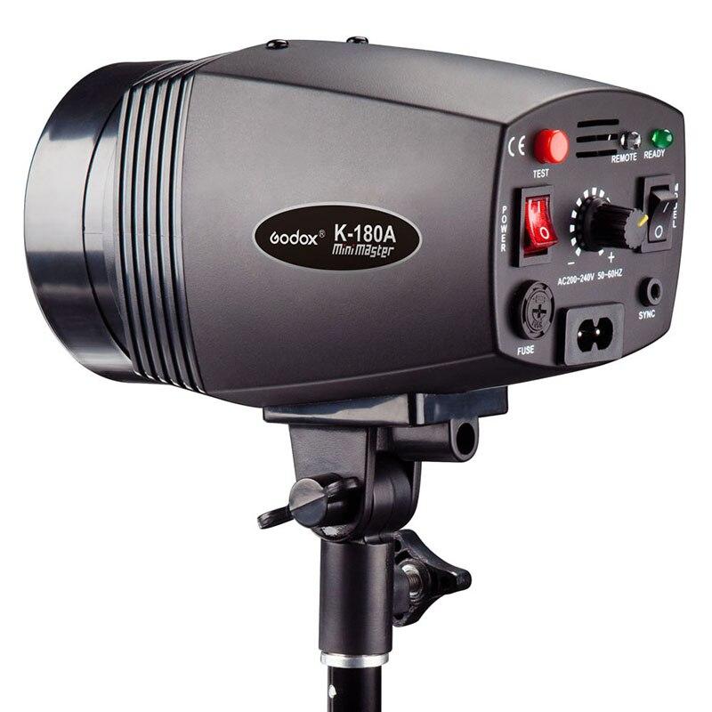 Godox Mini Master K-180A K180A180w Strobe Flash Monolight Photo Studio Light Lamp for Canon Nikon Sony godox mini studio flash strobe 160 max power 160ws universal digital mount gn43 recharging time 0 5 2s for photo accessories