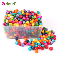 1000Pcs Mixed Color Wooden Hair Beads Braiding 6mm 8mm Hole Dreadlock Bead Ring Tubes For Braiding Hair Extension Accessories