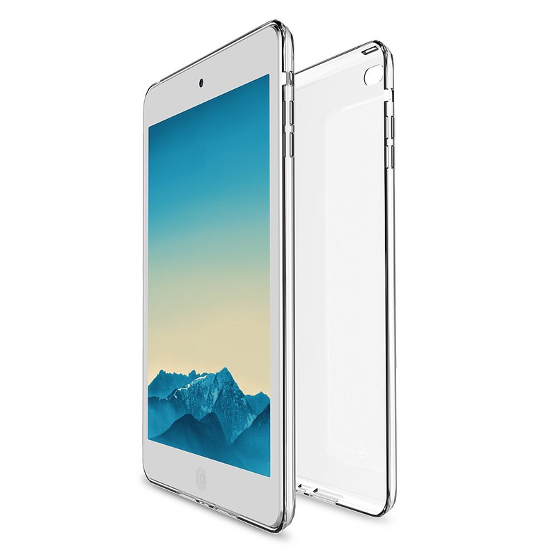 حافظة شفافة مرنة ناعمة حافظة لجهاز iPad Mini Case 1 2 3 واقي للشاشة لجهاز iPad Mini case + 9H هارد واقٍ زجاجي