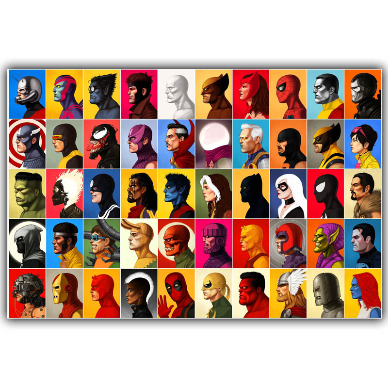 Online get cheap dc marvel comics for Cheap prints and posters