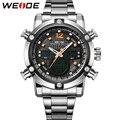 Weide esportes relógios dos homens Men Quartz relógio Digital Relogio Masculino marca analógico data militar Back Light relógios de pulso de exibição