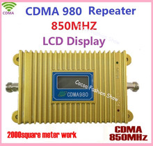 High Gain CDMA 980 850MHz LCD Display Mobile Phone Signal Booster/Repeater/Amplifer Coverage 2000square Free Shiping
