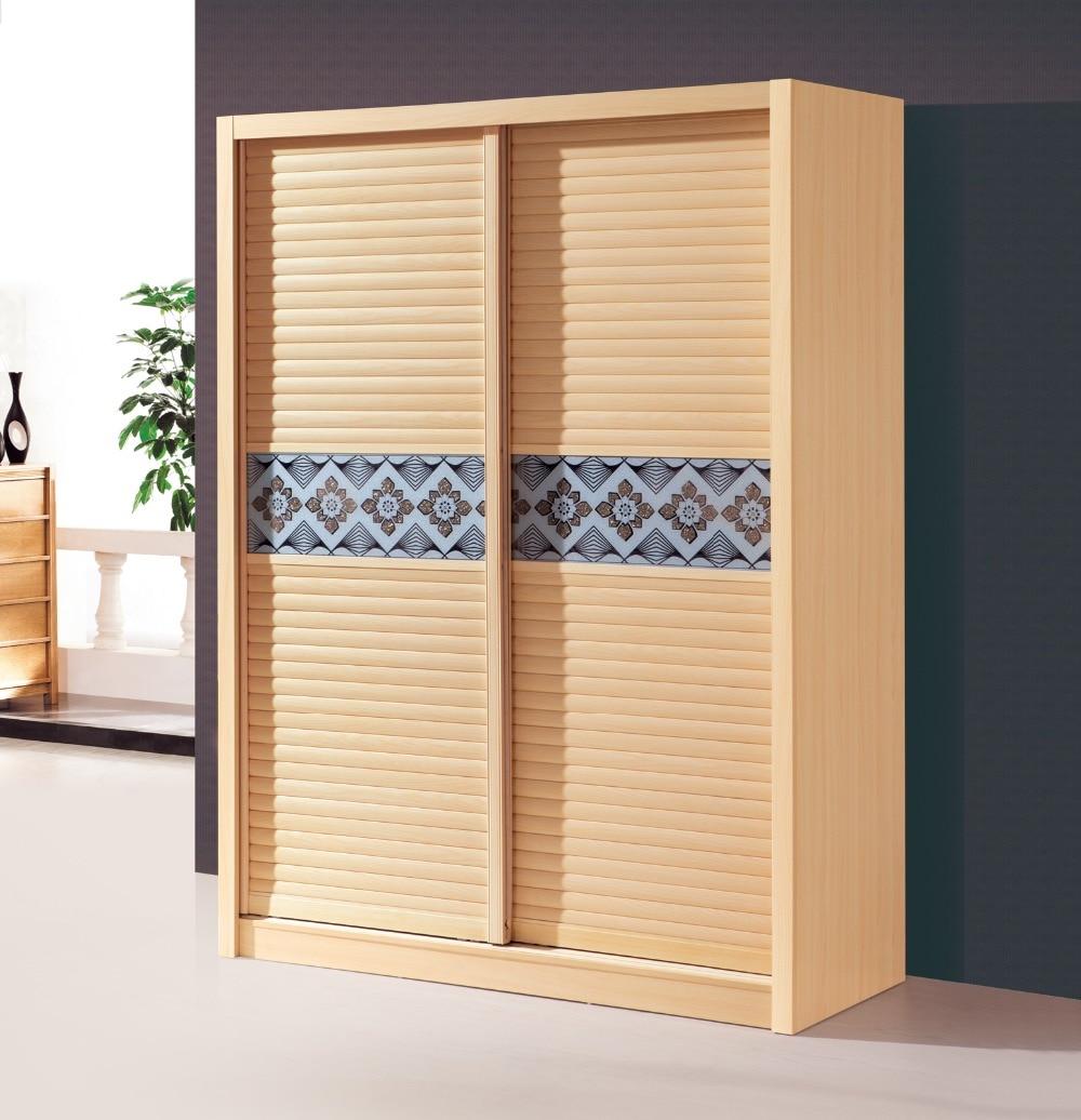 Chinese Modern Minimalist Two Goes Door Wardrobe Sliding Door