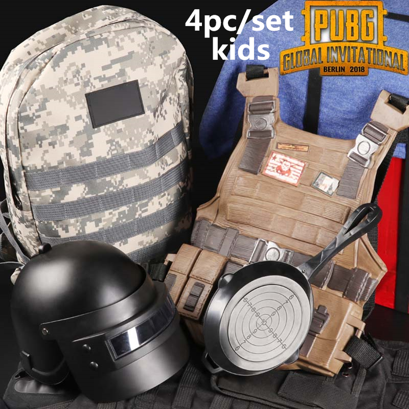 Novelty & Special Use Game Kids Pubg Level 3 Helmet Backpack Cosplay Props Bulletproof Vest Saucepan Pan Playerunknowns Battlegrounds Christmas Gifts To Ensure A Like-New Appearance Indefinably