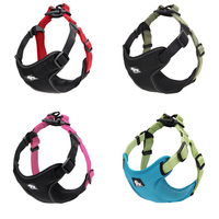 Padded Reflective Dog Harness Vest Pet Safety Nylon Dog Training Vest Adjustable For Small Medium Dog