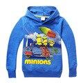 Pode escolher tamanho Minions de Hoodies Jumper com capuz Outerwear 4 pçs/lote