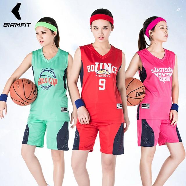 c849711c0c1 Girl Basketball Jerseys Uniform Professional Adult Sports Clothing College  Team Training Suit Breathable Shirts Customize Design