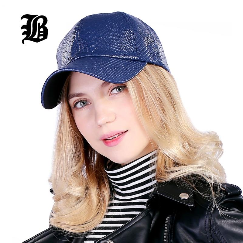 [FLB] Cool! New fashion PU black Baseball Cap kvinnor Hattar För - Kläder tillbehör - Foto 4