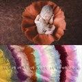 70 * 70 CM feltro de lã de lã de lã puro Real cesta bebê Stuffer enchimento Newborn fotografia Props presente do chuveiro de bebê cores enchimento