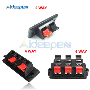 5Pcs/lot 2/4/6 Positions Way Connector Terminal Push in Jack Spring 2/4/6 Pin Load Audio Speaker Terminals image