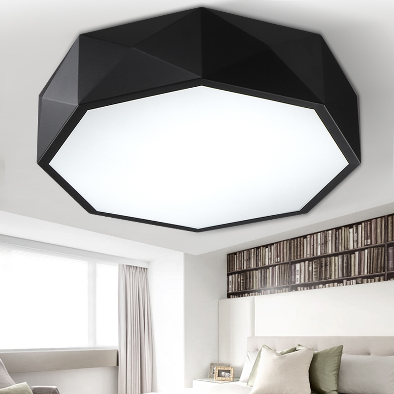 Modern Geometry White Black Acrylic Led Ceiling Lamp Drum Flush Mount Minimalist Fixture Light For Bedroom Dinning Room Cl141 In Lights From
