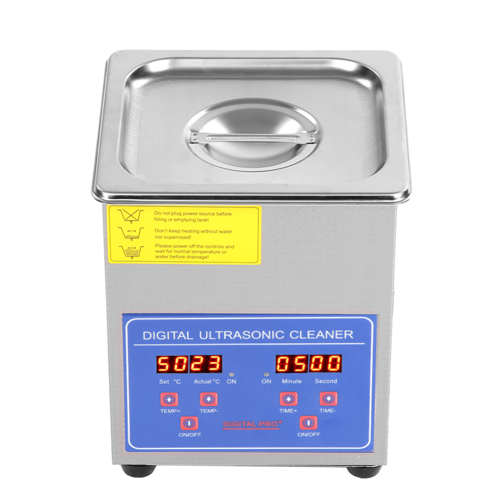 2L Stainless Steel Digital Ultrasonic Cleaner Ultra Sonic Bath Heater Timer