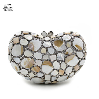XIYUAN BRAND Fashion Crystal Clutch Bag Gemstone High Quality Lady Party Evening Handbag Women Mini Shoulder Purses With Chain milisente high quality luxury crystal evening bag women wedding purses lady party clutch handbag green blue gold white