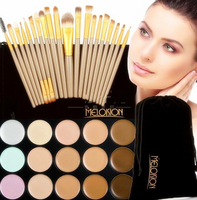 New 15 Color Concealer Palette Eye Make Up Brushes Teardrop Shaped Puff Makeup Contour Palette Paleta