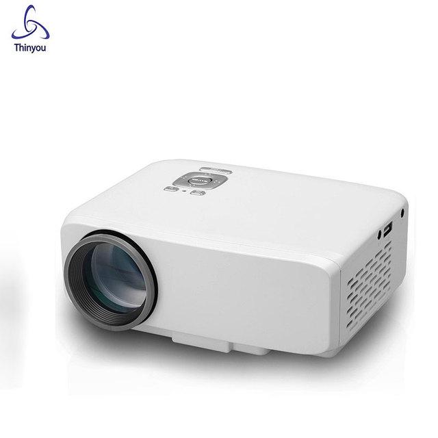 Thinyou Original Portátil Mini Proyector de Vídeo Full Hd LED Proyector de Cine En Casa Hdmi TV LCD Proyector Multimedia Player USB