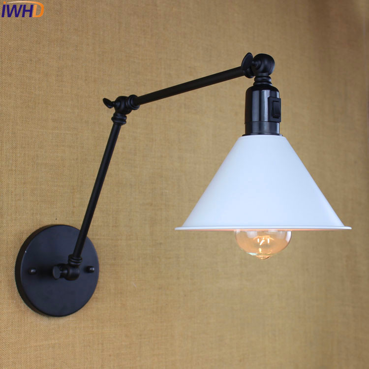 Industrial Vintage Wall Lamp With Switch Home Lighting Style Loft Edison Long Arm Wall Light Sconce Arandelas Lampara Pared edison adjustable arm light vintage wall lamp style loft industrial wall sconce arandelas lampara pared