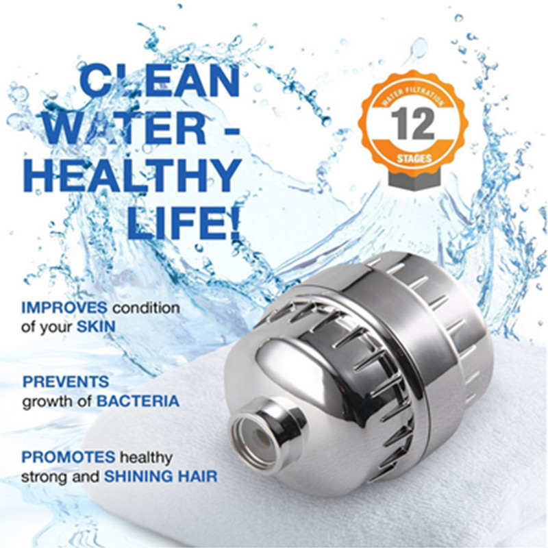 Shower Filter High Output Premium Hard Water Softener With 2 Replacement 12 Stage Cartridge Improves Skin And Hair Health