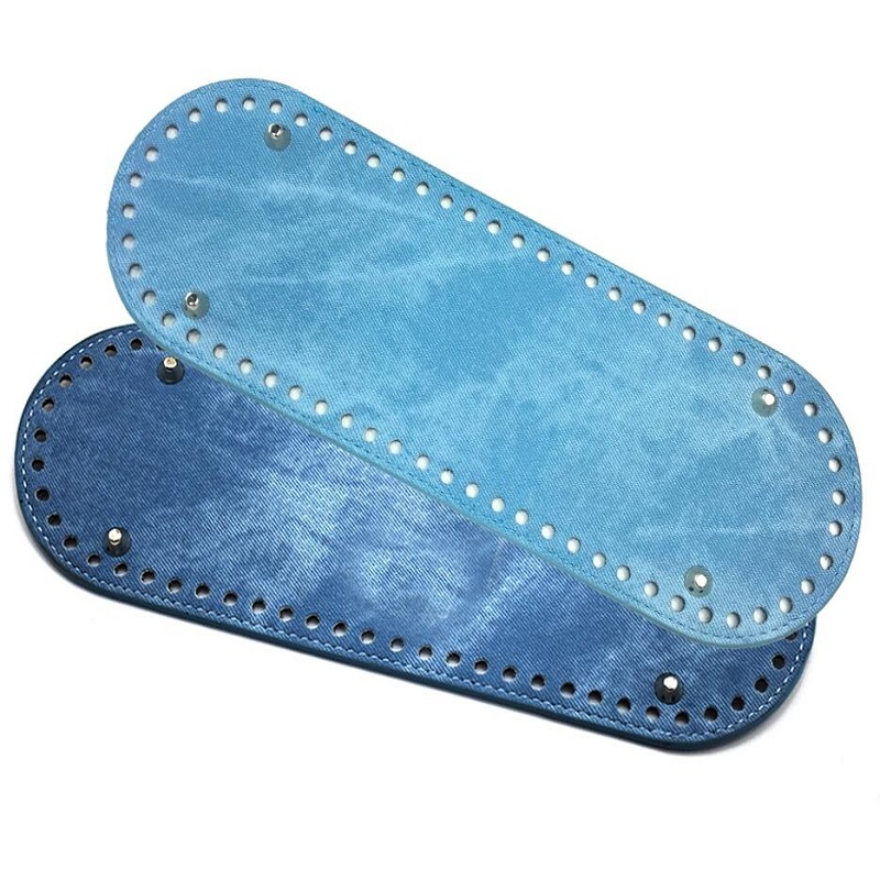 Fashion KZ 30*10CM Bag Bottom Oval Knitted Denim Bag Bottom Female DIY Sewing Shoulder Bag Bucket Bag Accessories KZBT014