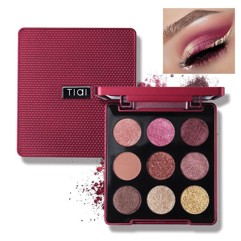 TIAI 9 Color Glitter Smooth Creamy Eyeshadow Palette With Mirror Makeup Nude Shimmer Matte High Pigment Waterproof Eyeshadow цена 2017