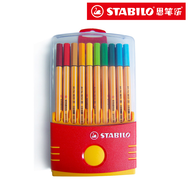 Stabilo Point 88 Fineliner 0.4mm color Marker Pen Gel Ink Rollerball Pen Germany 10/20 color Assorted set parker 88 maroon lacquer gt fine point fountain pen
