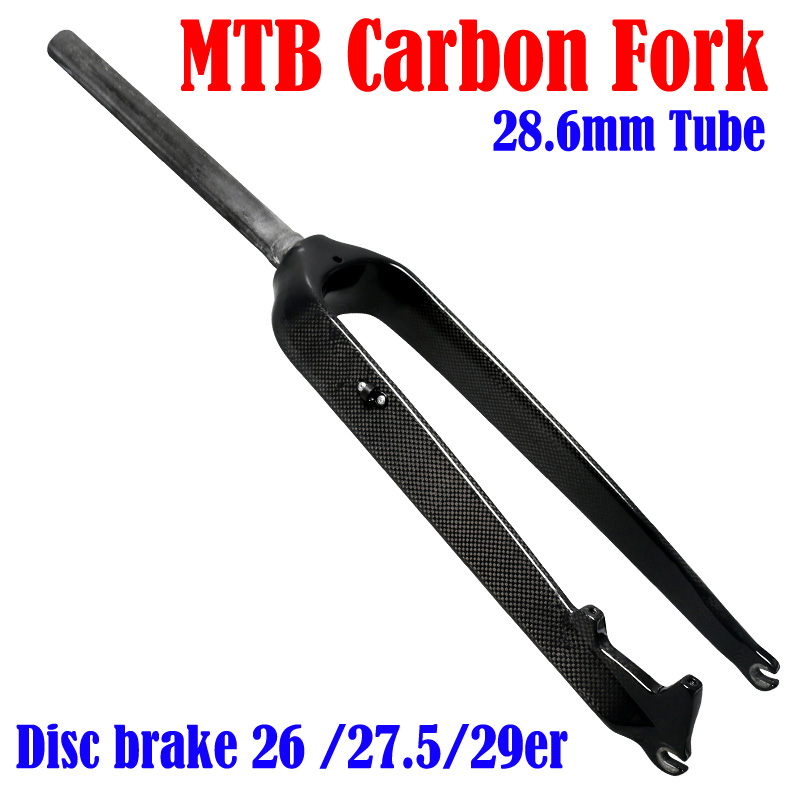MTB Bicycle Fork Full Toray T800 Carbon Fiber 26/27.5/29er Mountain Bike Carbon Fork Disc Brake Carbon Mtb Fork 3k Matte/glossy ultralight mountain bicycle rigid fork 3k full carbon fiber mtb bike disc brake front fork 1 1 8 28 6mm cycling fork 26 29er