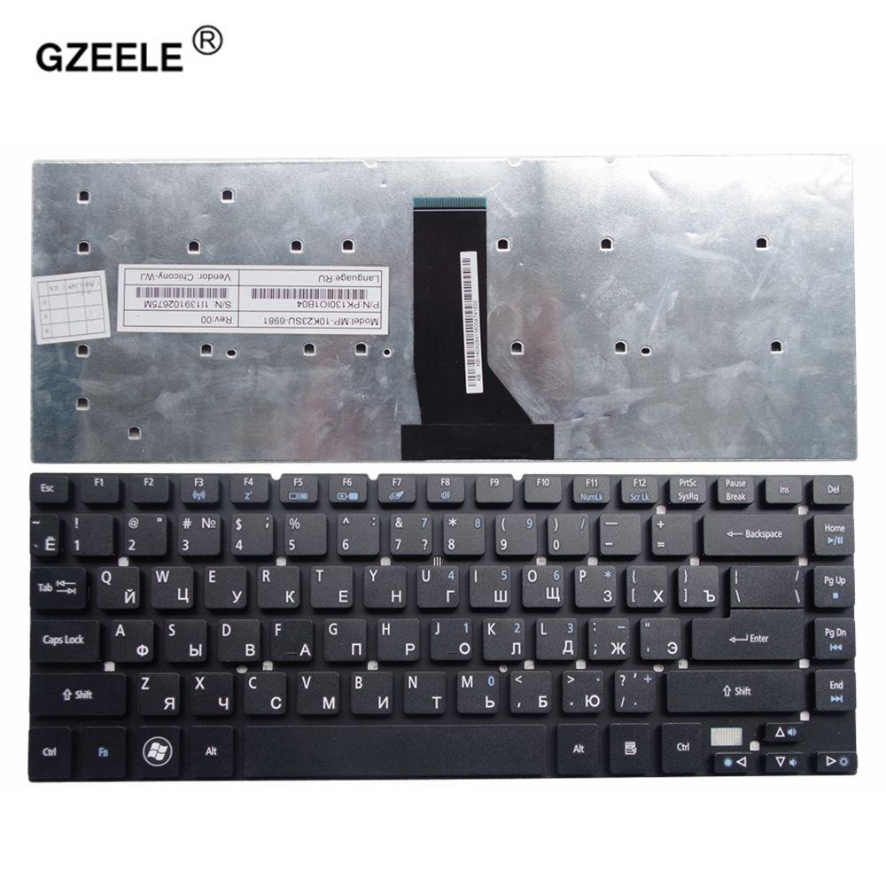 GZEELE laptop keyboard for Acer Aspire V3-471PG V3-471G E5-411G E5-421 E5-421G E5-471 E5-471G ES1-511 RU LAYOUT RUSSIAN laptop lcd screen for acer aspire e5 772 e5 772g e5 722 e5 722g e5 752g es1 731 es1 731g series 17 3 inch 1600x900 30pin