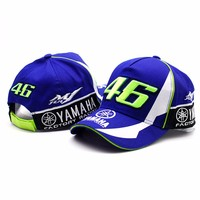 2017 High Quality MOTO GP 46 Motorcycle 3D Embroidered F1 Racing Cap Men Women Snapback Caps