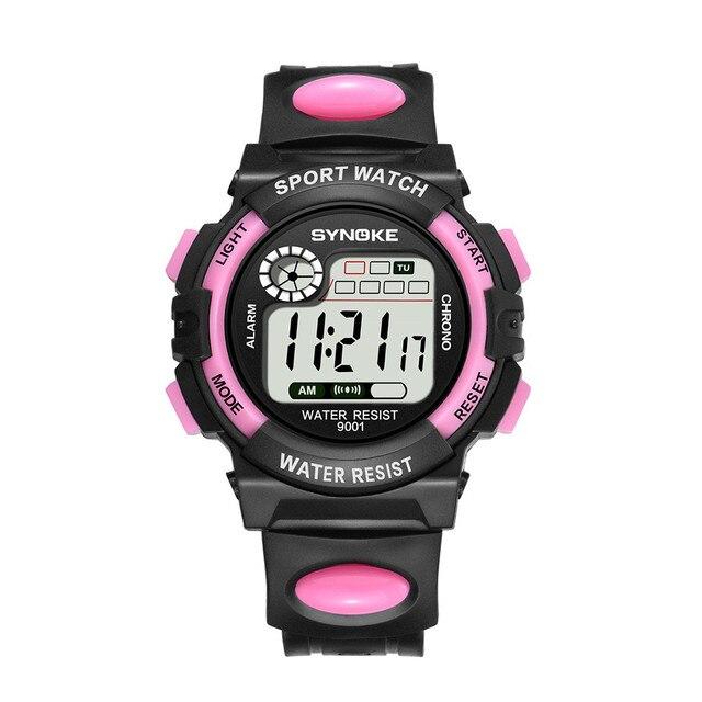 SYNOKE Смарт-часы женские android femme платье многофункциональные 30 м водонепроницаемые часы светодиодный цифровые часы двойного действия #30