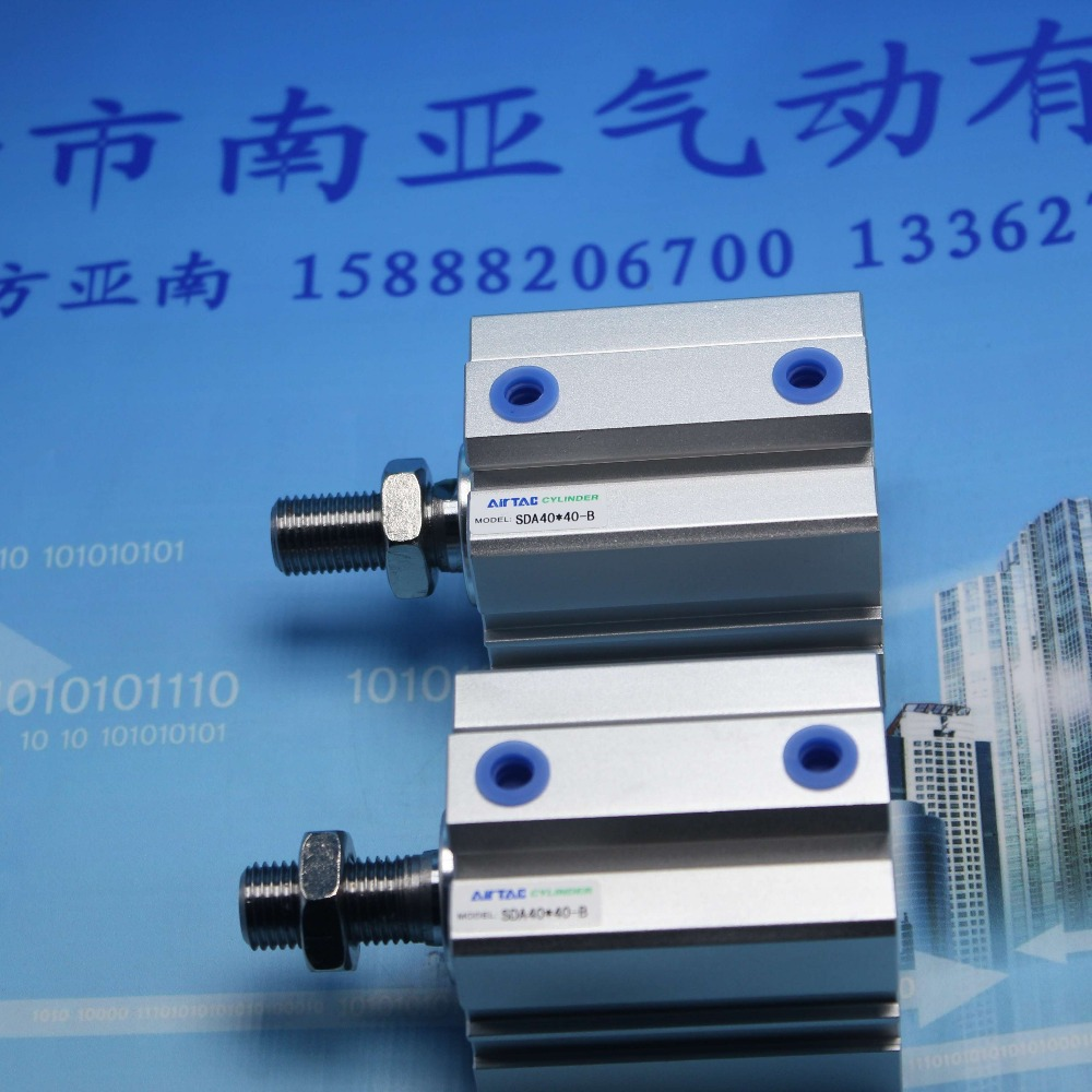 SDA40*40-B AIRTAC Thin cylinder air cylinder pneumatic component air tools diameter 40mm mgpm63 200 smc thin three axis cylinder with rod air cylinder pneumatic air tools mgpm series mgpm 63 200 63 200 63x200 model