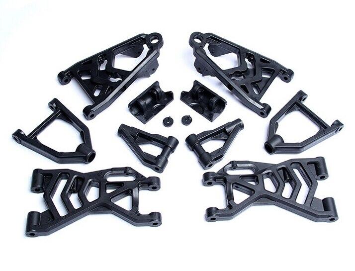 Nylon complete arm set suspension arm set fits HPI Baja 5b ss 5T KM 10 pcs