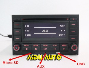 Image 2 - For VW Golf MK4 Jetta MK4 Polo Passat B5 RCN210 USB CD bluetooth USB Player Radio
