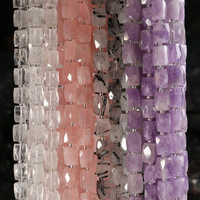 Full 15.5' Strand Natural Facets Amazon Aquamarin Rose Crystal Agates Barrel Loose 20-21 Beads 15mm*12mm Size for Making Jewelry