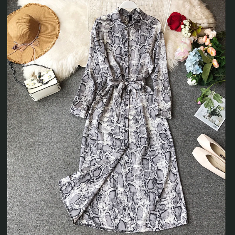 Snake skin color women dresses 2019 summer new sexy night club dresses with belt top quality