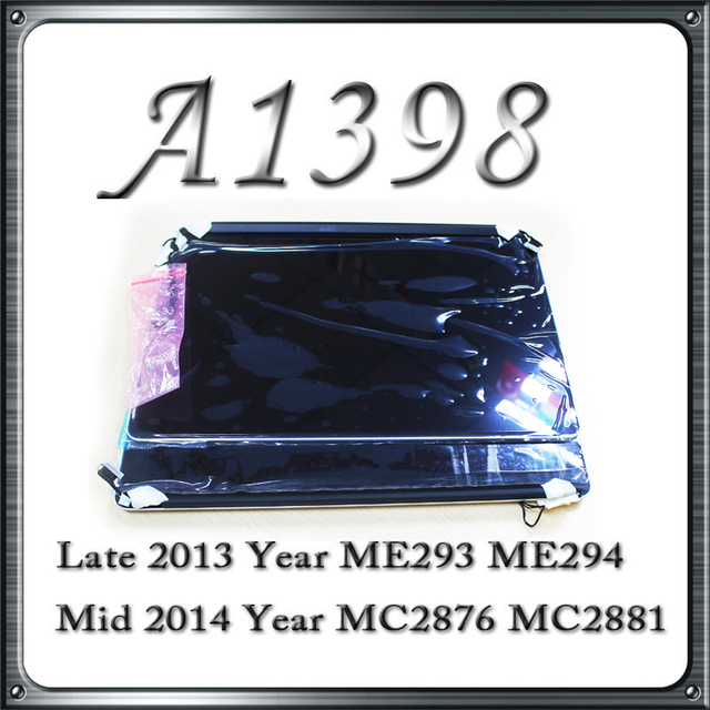 100% Tested Working A1398 Complete LCD Screen With LCD Cover 2013 2014 For Apple Macbook Retina 15'' Replacement LCD Screen