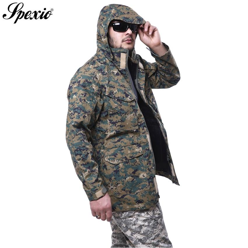 9f26d56cab1 Brand M65 UK US Men Spring Autumn Flight Pilot Coat Army Tactical Hoodie  Military Field Jacket Windbreaker Waterproof Jackets