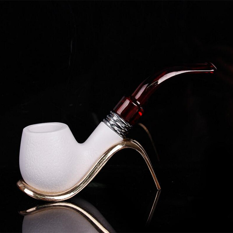 High Quality Smoking Tobacco Pipe Meerschaum Cigar Sepiolite Pipes Best Gift For Friend
