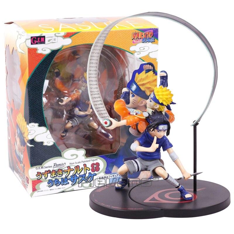 G.E.M Series Remix NARUTO Uzumaki Naruto & Uchiha Sasuke Non Scale Painted Figure Collectible Model Toy 18cm лонгслив remix remix mp002xw0qs3h