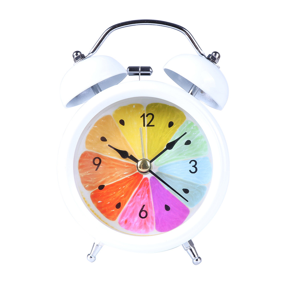 Wholesale High quality Classic Simple Metal Shell Two-Way Bell Alarm Clock Home Decoration Alarm Clock #30